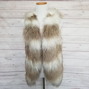 Anthropologie  Skies Are Blue Fur Vest Small